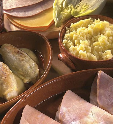 Roulades de jambon aux chicons et à la Corsendonk