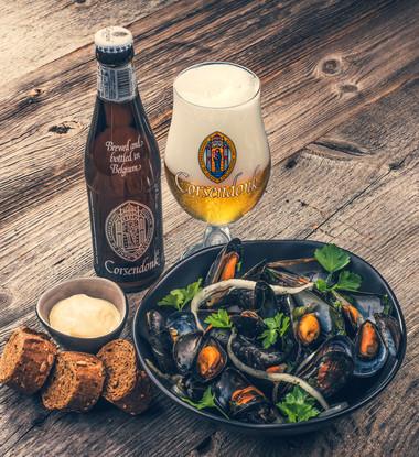 Moules à la bière Corsendonk Agnus